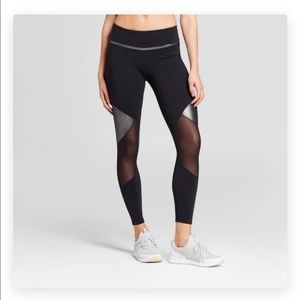 Joy Lab | NWT Silver Mesh Black Leggings